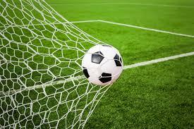 soccer ball shot in the net