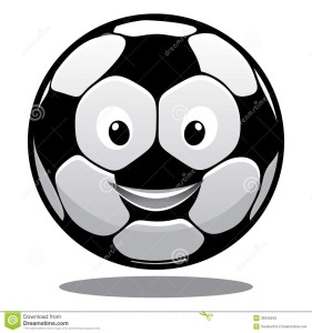 soccer ball smiling